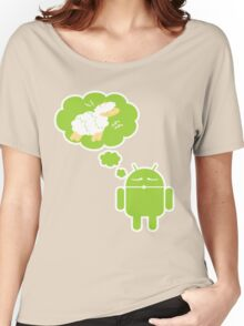 DROID Dreaming of an Electric Sheep (iron-on look) Women's Relaxed Fit T-Shirt