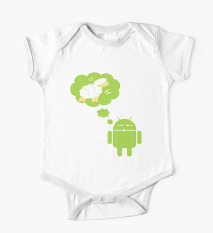 DROID Dreaming of an Electric Sheep (iron-on look) Kids Clothes
