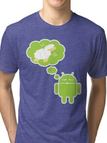 DROID Dreaming of an Electric Sheep (iron-on look) Tri-blend T-Shirt