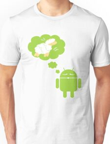 DROID Dreaming of an Electric Sheep (iron-on look) Unisex T-Shirt