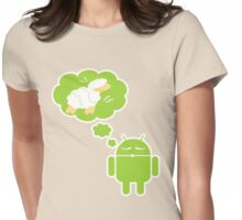 DROID Dreaming of an Electric Sheep (iron-on look) Womens Fitted T-Shirt