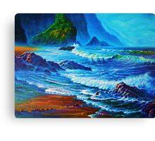 Morning Surf Oregon Canvas Print