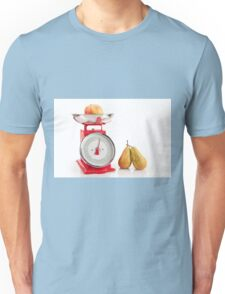 Kitchen red weight scale utensil Unisex T-Shirt