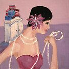 Twenties Girl and her Hat Boxes by Marie Theron
