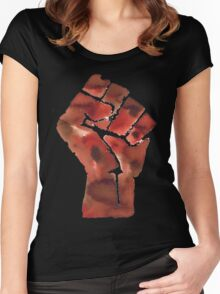 Black Power Fist Women's Fitted Scoop T-Shirt