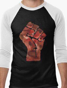 Black Power Fist Men's Baseball ¾ T-Shirt