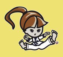 Martial Arts/Karate Girl - Jumping Split Kick Kids Clothes