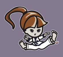 Martial Arts/Karate Girl - Jumping Split Kick Kids Tee