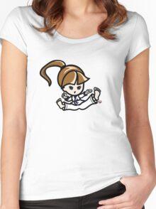 Martial Arts/Karate Girl - Jumping Split Kick Women's Fitted Scoop T-Shirt
