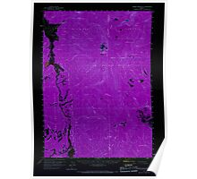 USGS Topo Map Oregon Yamsay Mountain 283028 1960 62500 Inverted Poster
