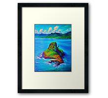 Mokoli'i Island (China Mans hat) Framed Print