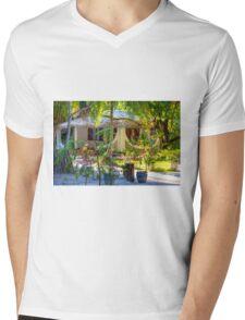 Vacation resort in the Maldives, Eden on Earth Mens V-Neck T-Shirt