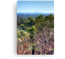 Perth city from Kelmscott hills Canvas Print