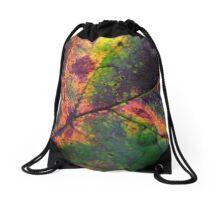 Rainbow Leaf Drawstring Bag