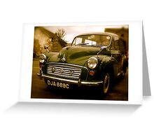 Morris Minor Greeting Card