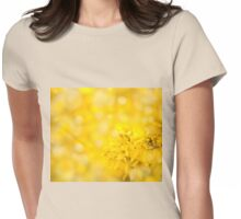 Forsythia bright yellow flowers Womens Fitted T-Shirt