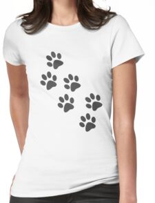 Paw Prints Womens Fitted T-Shirt