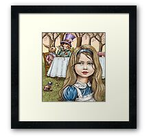 Alice and the mad tea party Framed Print