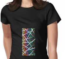 rectángulo multicolor Womens Fitted T-Shirt