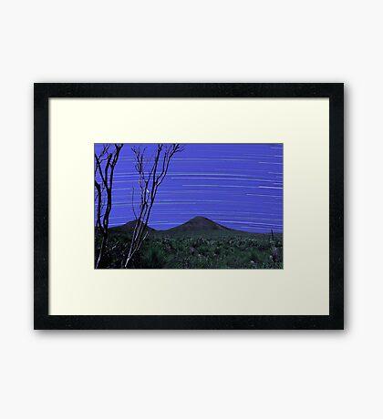 Star Trails - Stirling Ranges Western Australia Framed Print