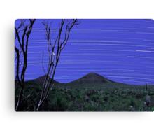 Star Trails - Stirling Ranges Western Australia Canvas Print