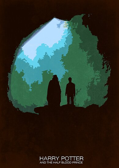 Harry Potter 6 minimal poster art by Zoe Toseland