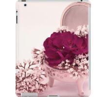 Pink Geranium In Vintage Dish  iPad Case/Skin