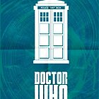 Doctor who tardis minimal poster art by Zoe Toseland
