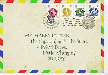 Harry Potter envelope art by Zoe Toseland
