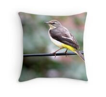 Bird on wire Throw Pillow