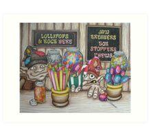 Lollipops 'n' rock Art Print