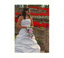 The Bride in Flowers Art Print