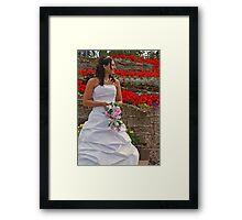 The Bride in Flowers Framed Print