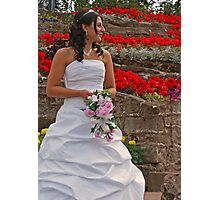 The Bride in Flowers Photographic Print