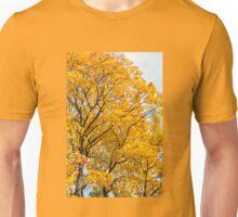 Yellow leaves autumn trees Unisex T-Shirt