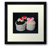 knitted cupcakes, yummy!! Framed Print