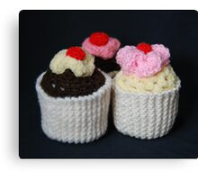 knitted cupcakes, yummy!! Canvas Print