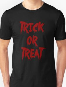 Trick or Treat - Red Unisex T-Shirt