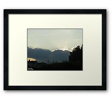 SunDown 5 Framed Print