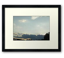 SunDown 8 Framed Print