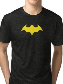 Batgirl Symbol Black Tri-blend T-Shirt