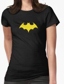 Batgirl Symbol Black Womens Fitted T-Shirt