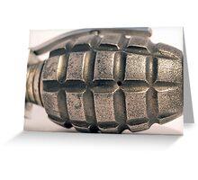 up close hand grenade Greeting Card