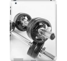 Chrome bolt on hand barbells weights iPad Case/Skin