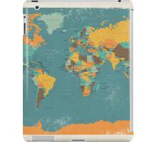 Retro Political Map of the World iPad Case/Skin