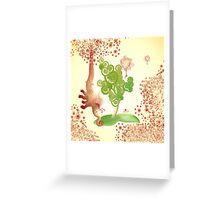 elephantus Tarax. seminis flos Greeting Card