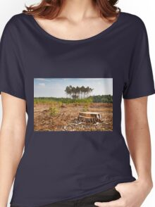 Woods lone trunk in deforestation Women's Relaxed Fit T-Shirt