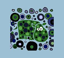 Funky Blue and Green Abstract Art Hippo Unisex T-Shirt