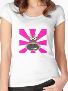 Funky Cow Women's Fitted Scoop T-Shirt
