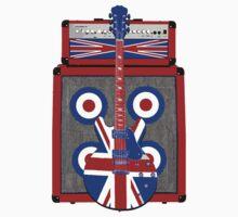 Vintage amp and guitar Kids Tee